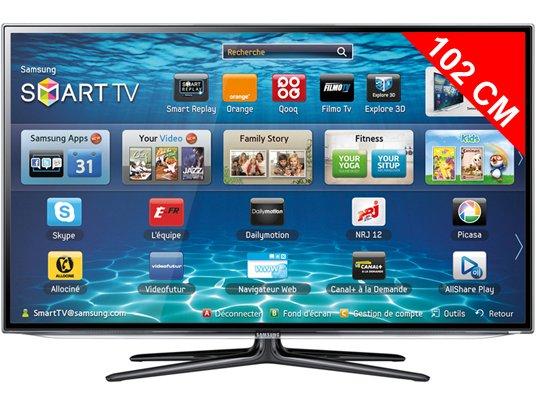 Téléviseur LED 102 cm Full HD 3D SAMSUNG UE40ES6100