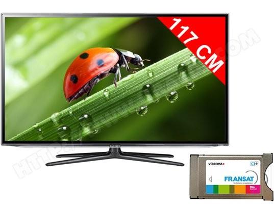 Téléviseur LED 117 cm Full HD 3D SAMSUNG UE46ES6300 + Module satellite Fransat