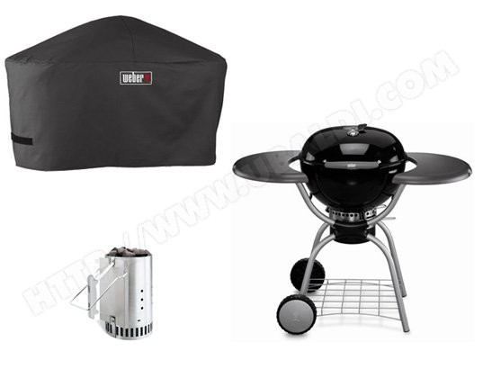 Barbecue charbon WEBER ONE TOUCH DELUXE 57cm + Accessoires