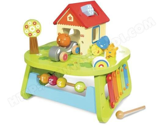 Jeu de construction en bois HOUSE OF TOYS Table Multi Activites