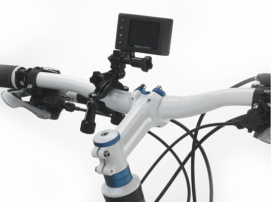 Caméra Toshiba Camileo X-Sports sur vélo