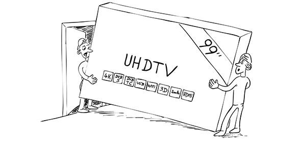 tv 4k ou full hd quelle taille tv choisir pour son salon. Black Bedroom Furniture Sets. Home Design Ideas