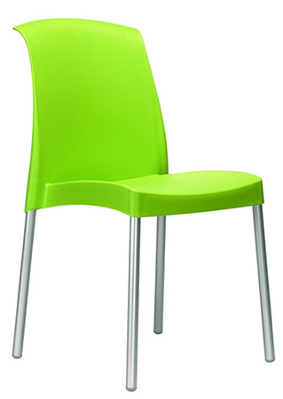 chaise verte empilable