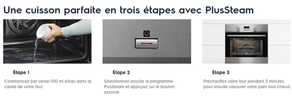 Fonctionnement Pulse Steam Electrolux