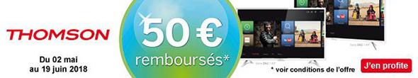 50€ remboursés sur TV Thomson