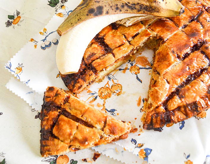 galette des rois banane caramel