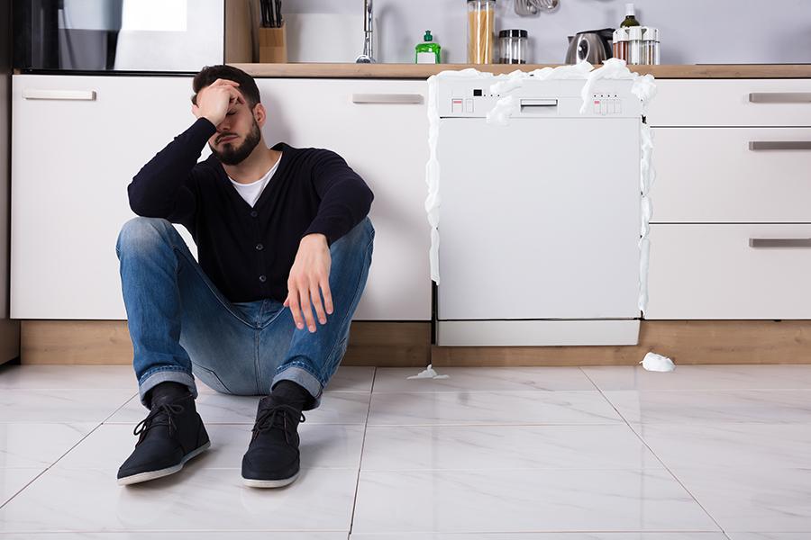mousse dans lave vaisselle