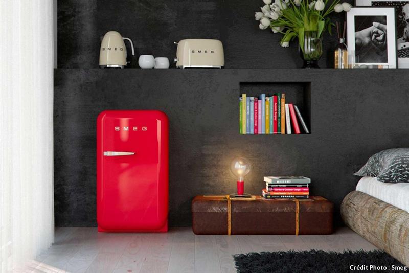 Réfrigérateur mini smeg rouge
