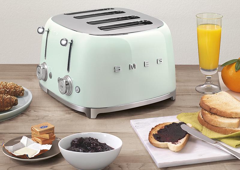 toaster 4 tranches smeg rétro