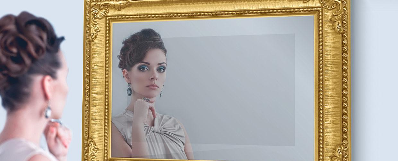 tv miroir dans cadre
