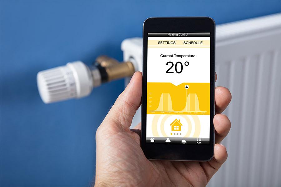 régler un radiateur depuis un smartphone