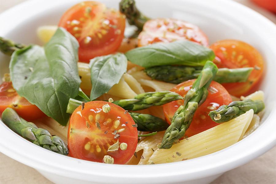 salade italienne asperge tomates cerises