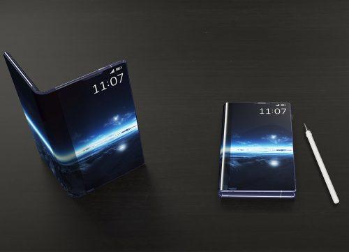 Ecran OLED pliable sur smartphone