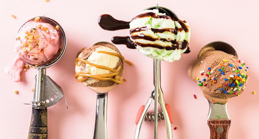 glace maison fruit, vanille et chocolat