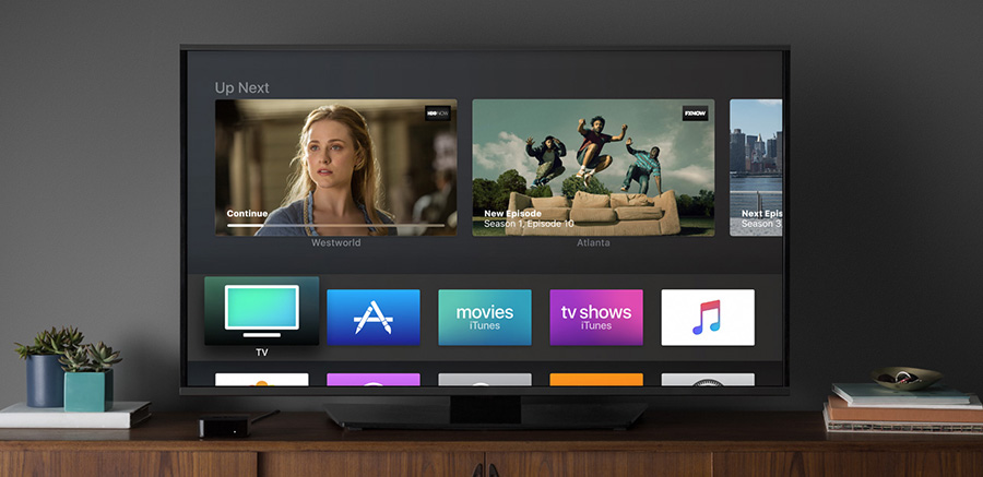 interface téléviseur apple tv