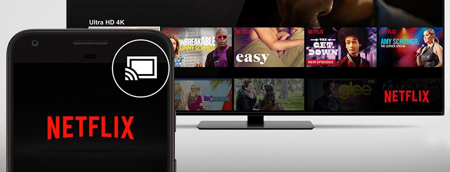 caster netflix smartphone sur tv