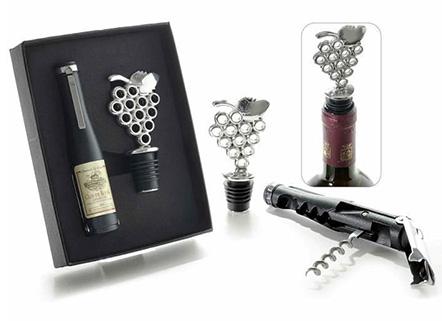 Set à vin Sommelier avec tire bouchon et bouchon dans boîte cadeau