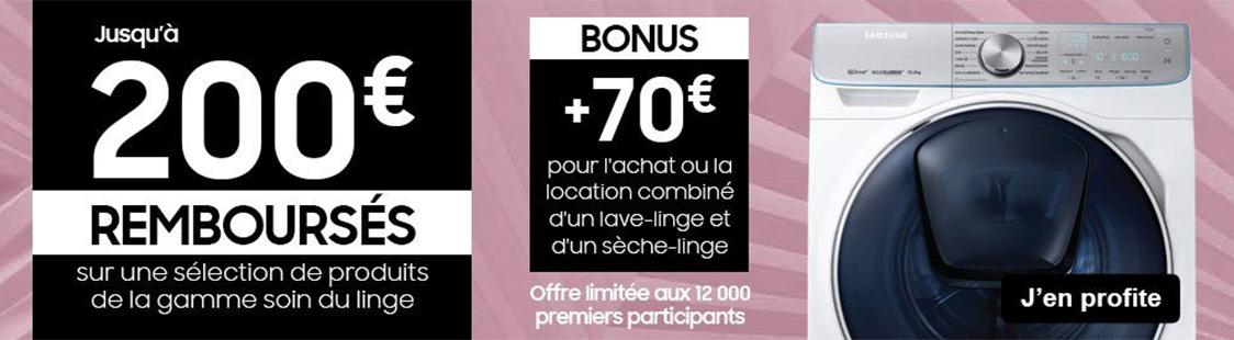 promotion lave linge seche linge samsung soldes 2020