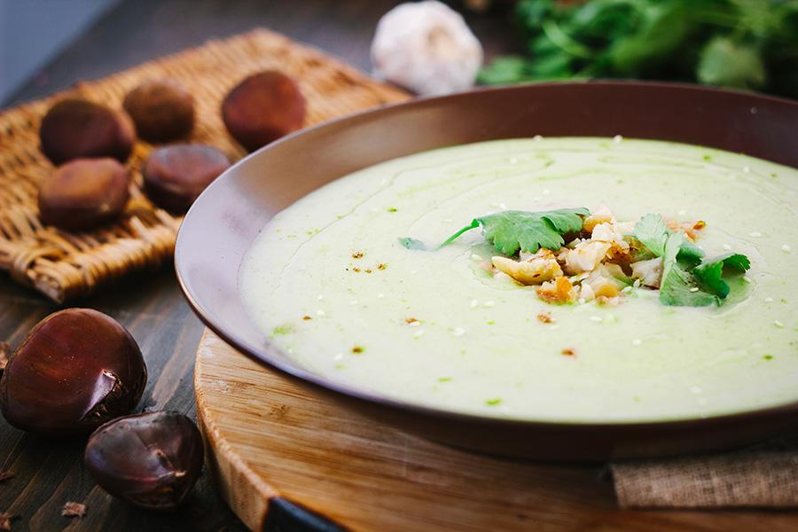 soupe rapide chataigne flageolets