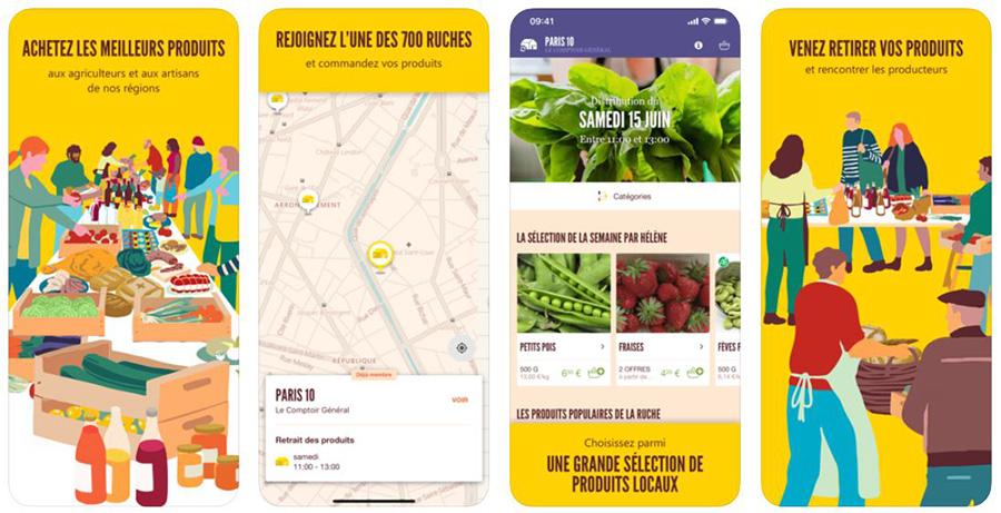 app mobile ruche qui dit oui pour manger local