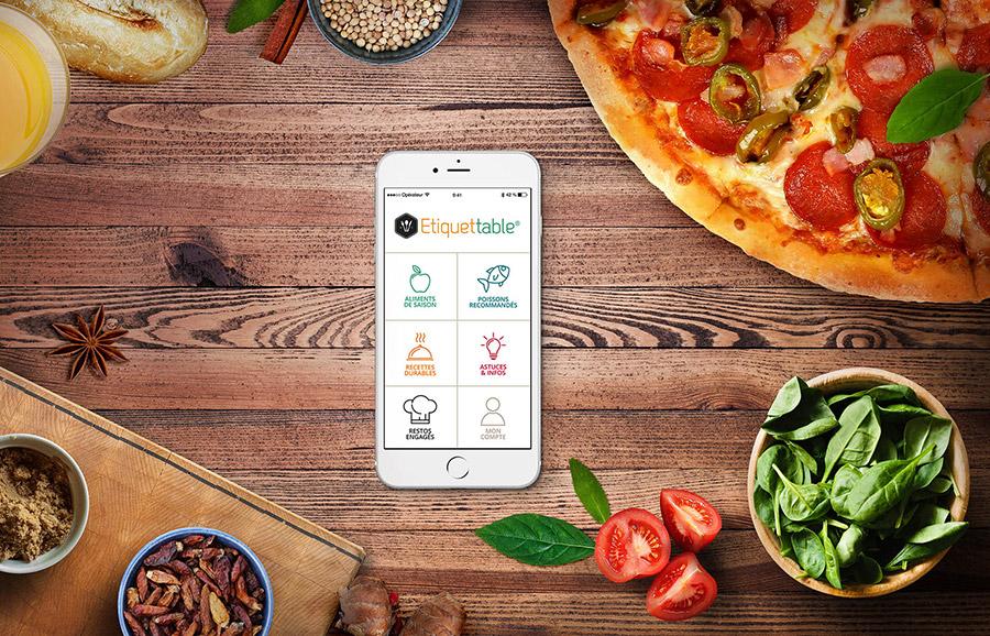 application mobile etiquettable pour mieux manger