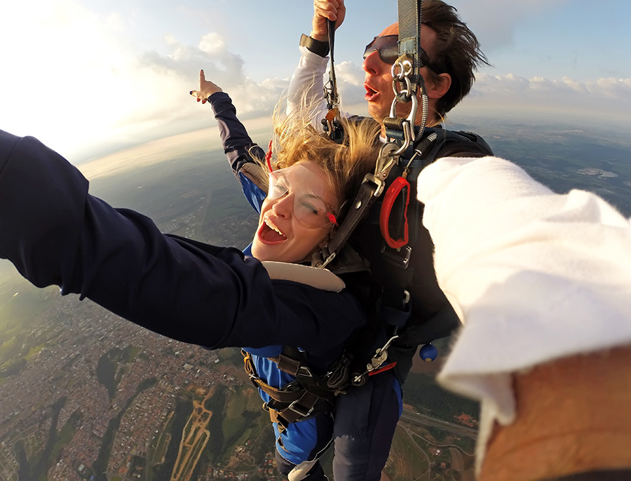 go pro pour saut parachute