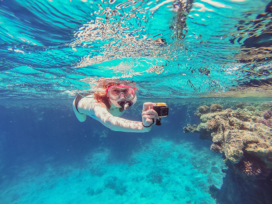 utiliser sa go pro sous l'eau