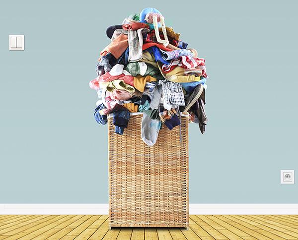 corbeille de linge à laver