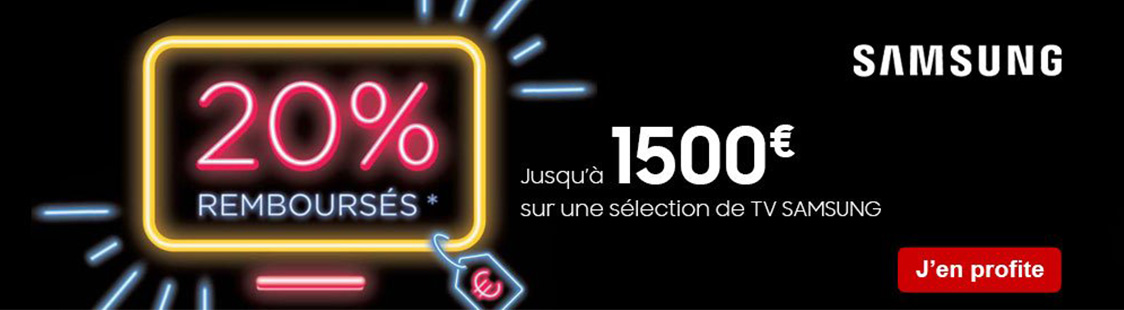 promotion tv samsung mars avril 2020