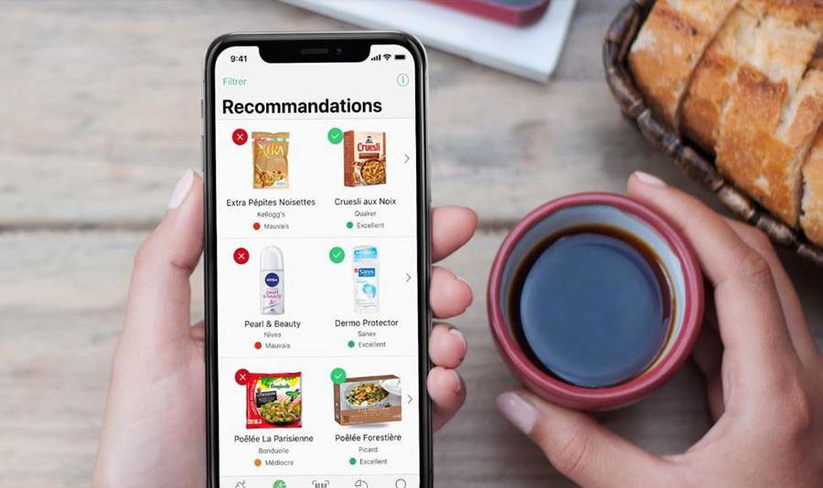 app yuka qui donne recommandations
