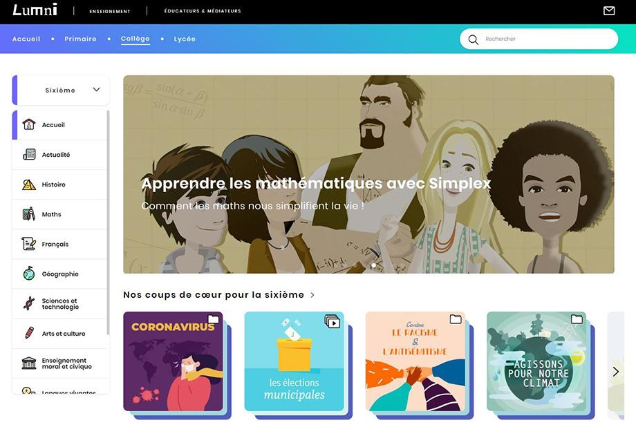 site educatif lumni enfants