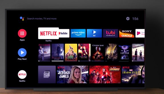 smart tv android tv interface
