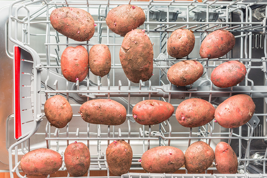 laver les pommes de terre au lave vaisselle