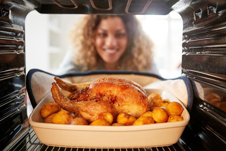 chaleur tournante cuisson poulet patates