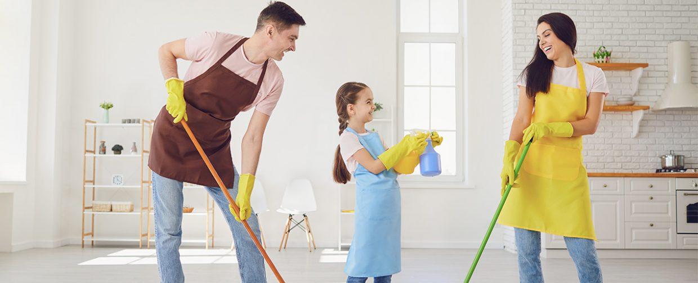 grand nettoyage en famille