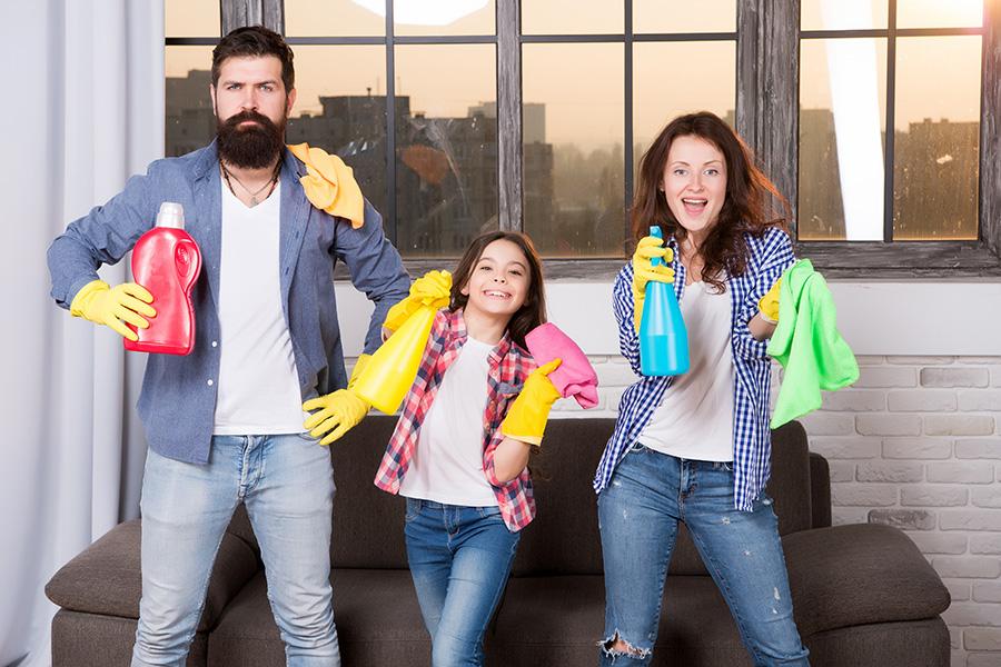 produits ménager famille