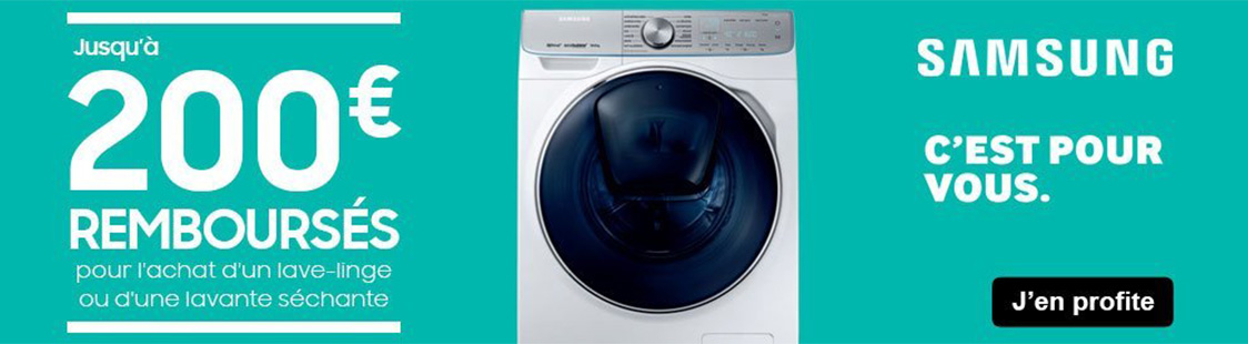 promotion lave linge avril 2020