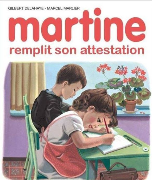 martine remplit son attestation