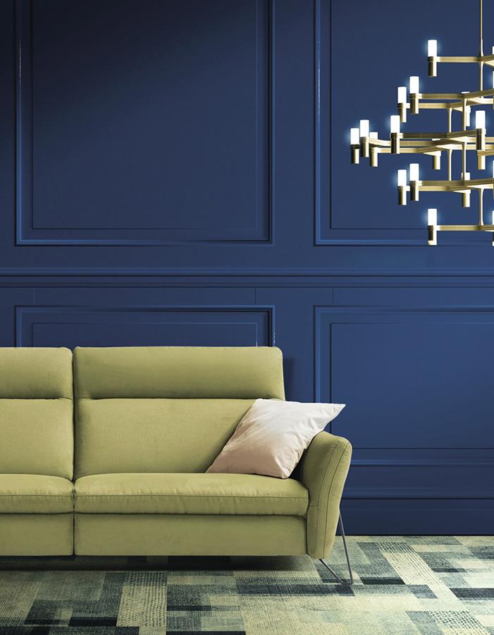 salon mur bleu ubaldi