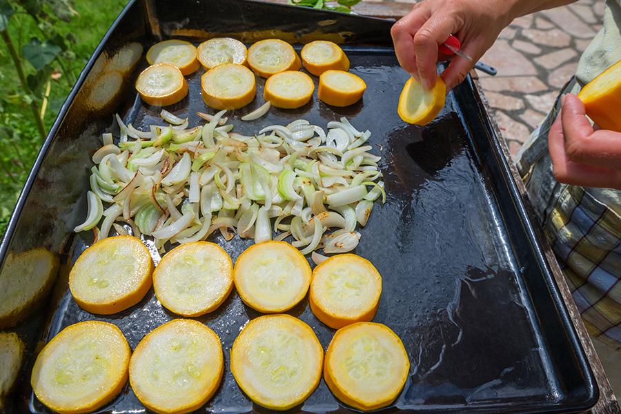 cuisiner les légumes à la plancha