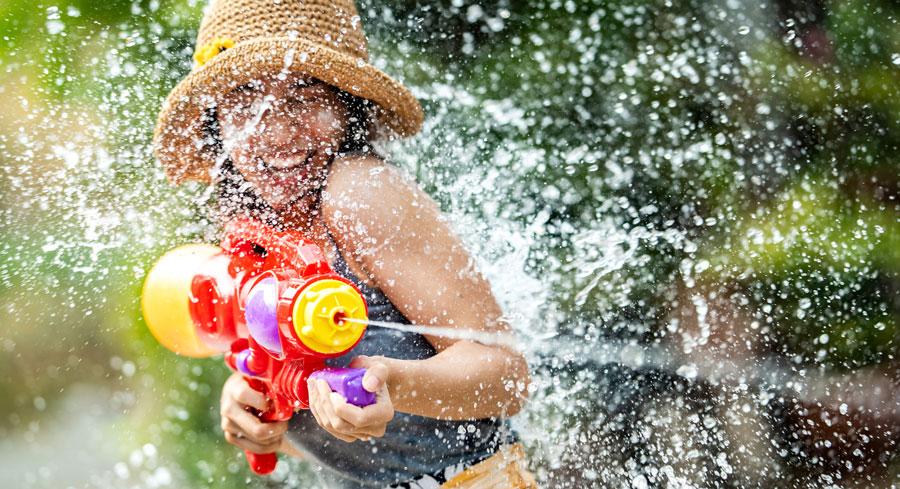 Bataille de pistolets à eau